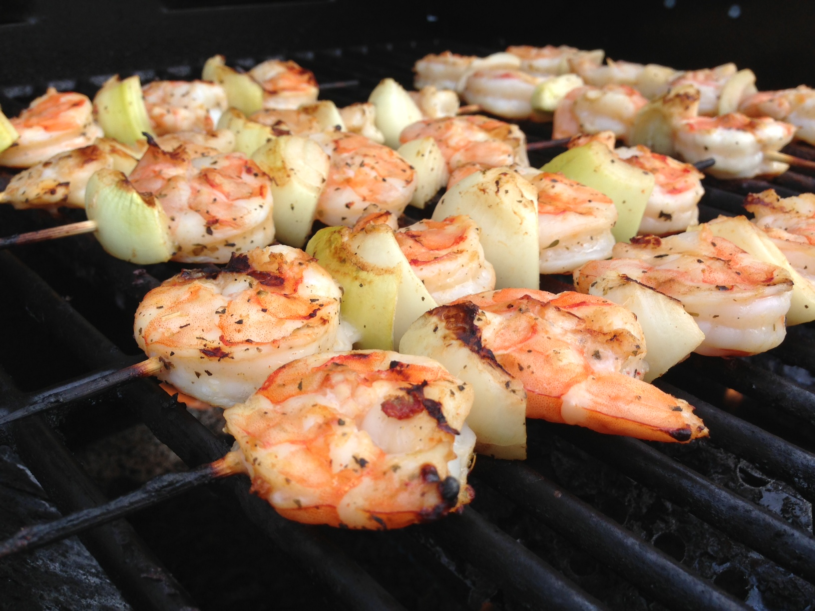Shrimp on the grill makes this Fathers Day a great one!