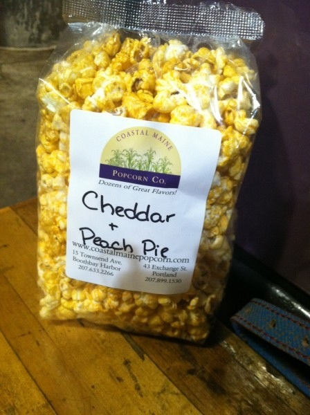 Peach Pie+Cheddar Flavored Popcorn. Perfect Snack When Sailing a Boat.