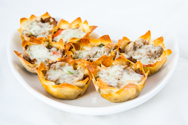Cheesesteak Wontons