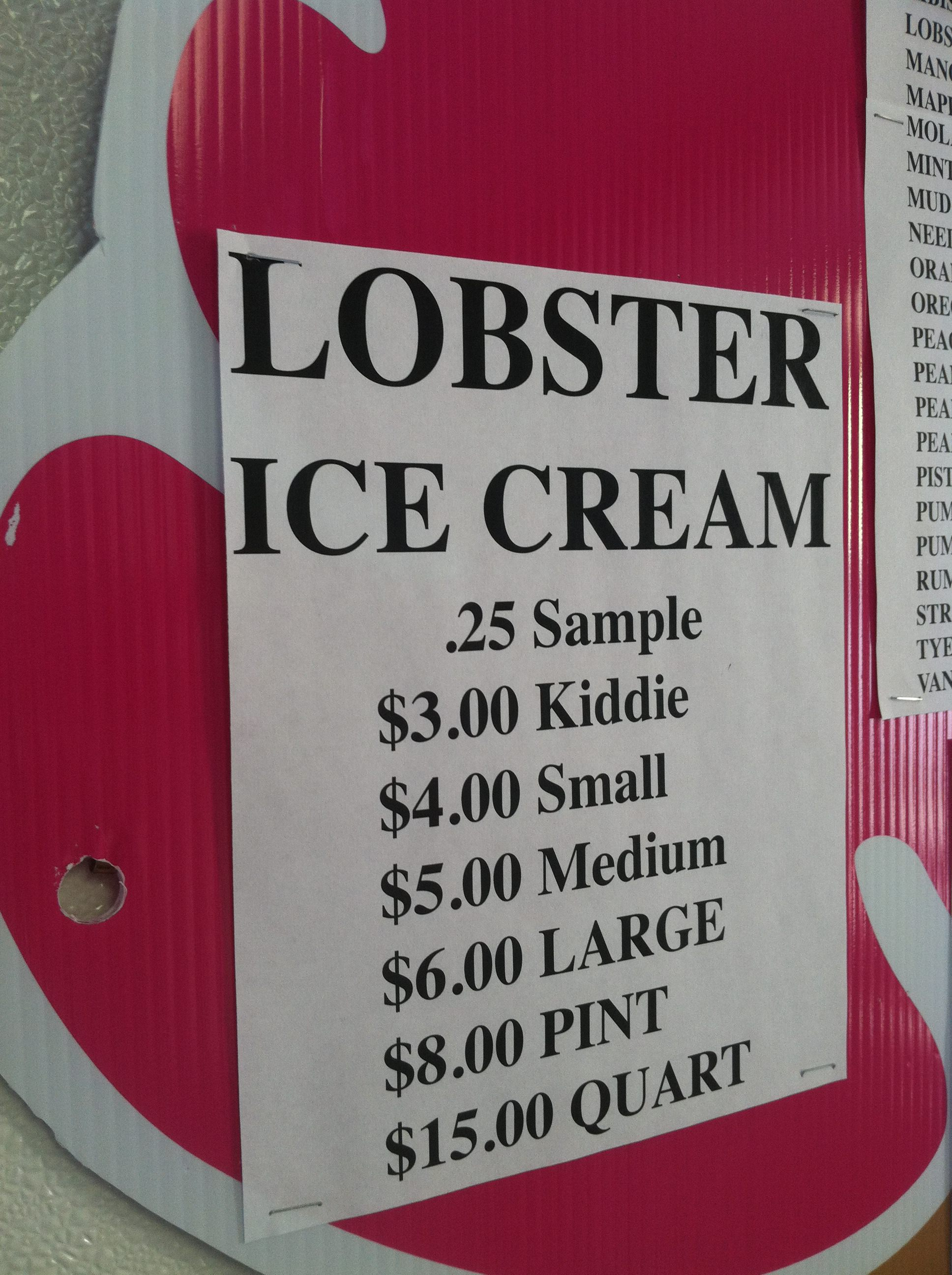 Lobster Ice Cream. No Really. Only in Maine