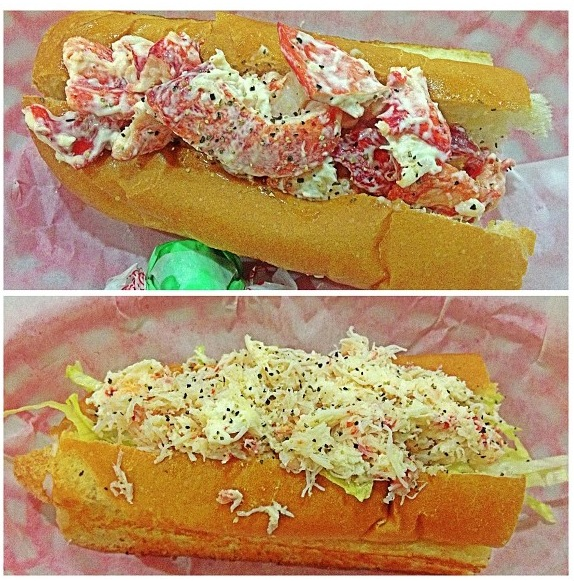 Lobster And Crab Rolls On Deck