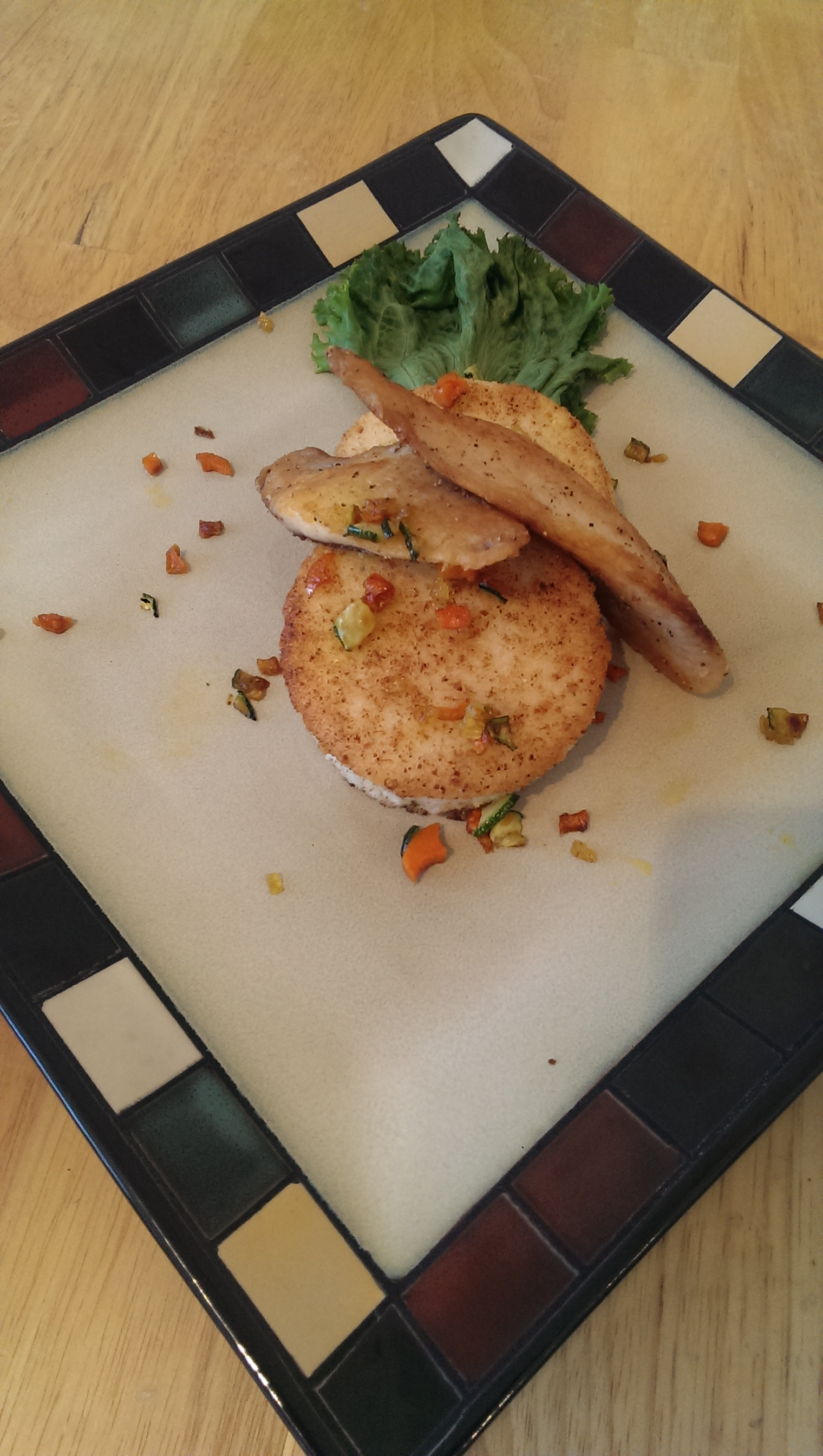 Tilapia and grit cakes!
