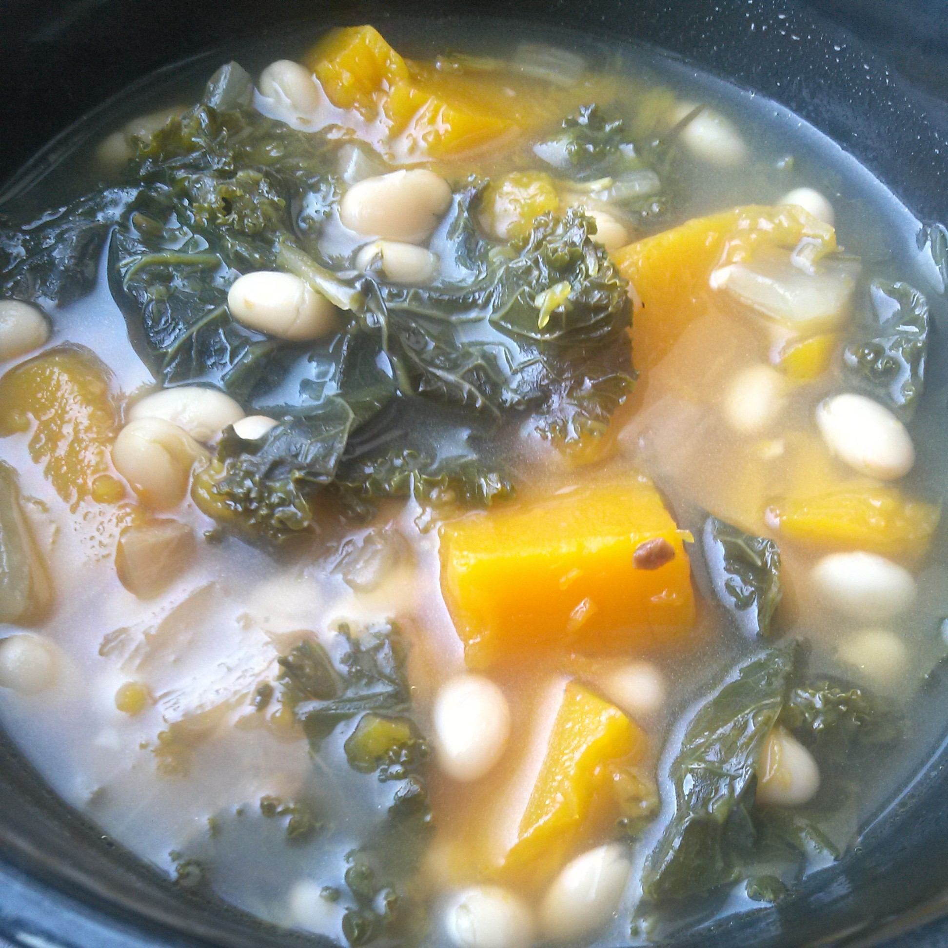 Butternut Squash, Kale, and White Bean Soup