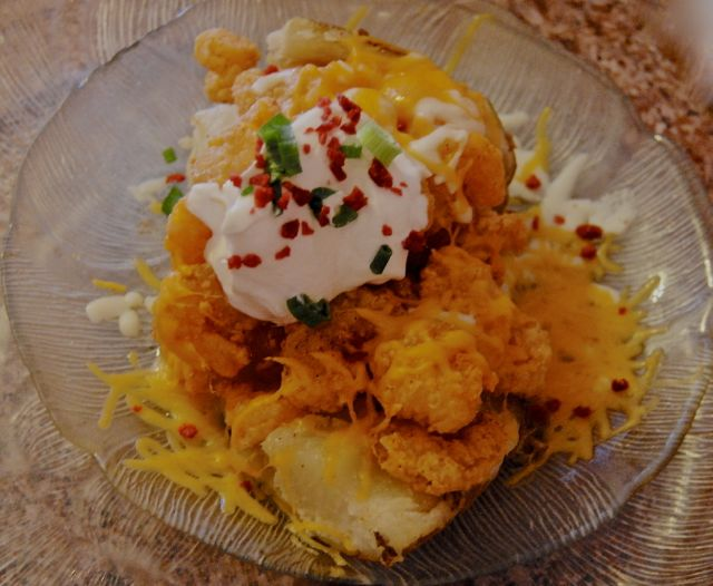 Stuffed Fried Shrimp Potato