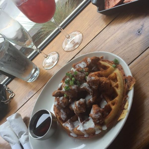 nashville, eyepissglitter, chicken and waffles, maple syrup,