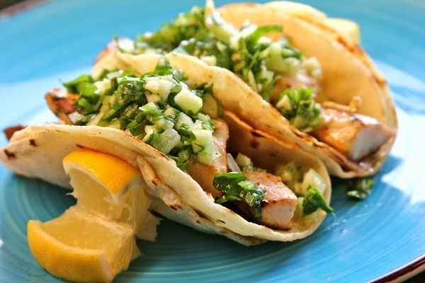 Homemade Fancy Fish Tacos