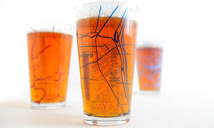 Show Off Your School Pride With UncommonGreen's College Town Maps Drinkware