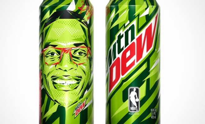 Check Out Russell Westbrook's NBA-Inspired Mountain Dew Cans