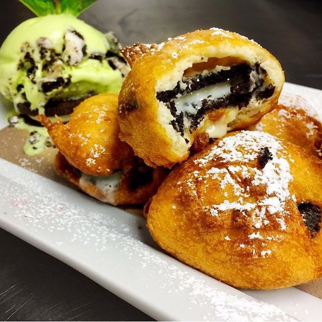 The Deep Fried Oreo's from @CafeteriaNYC are outta this World!! Trust us stop on by and see for yourself and Tell Em #YouGottaEatThisSentYa!! || #YGET #YouGottaEatThis #WDYET #YGETNYC #DeepFried #Oreo || #💣 #😍 #🔥 #😳 #👍🏽