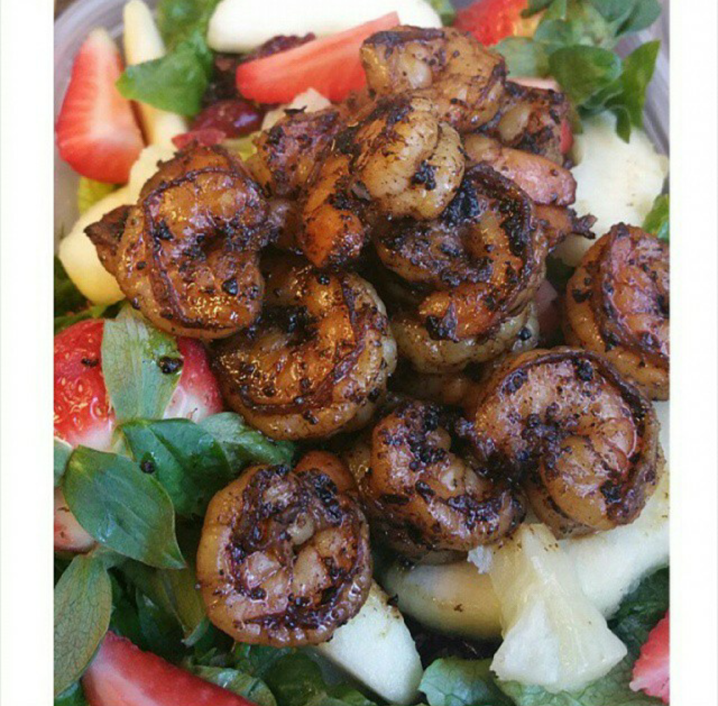 Blackened Shrimp Strawberry Sensation Salad