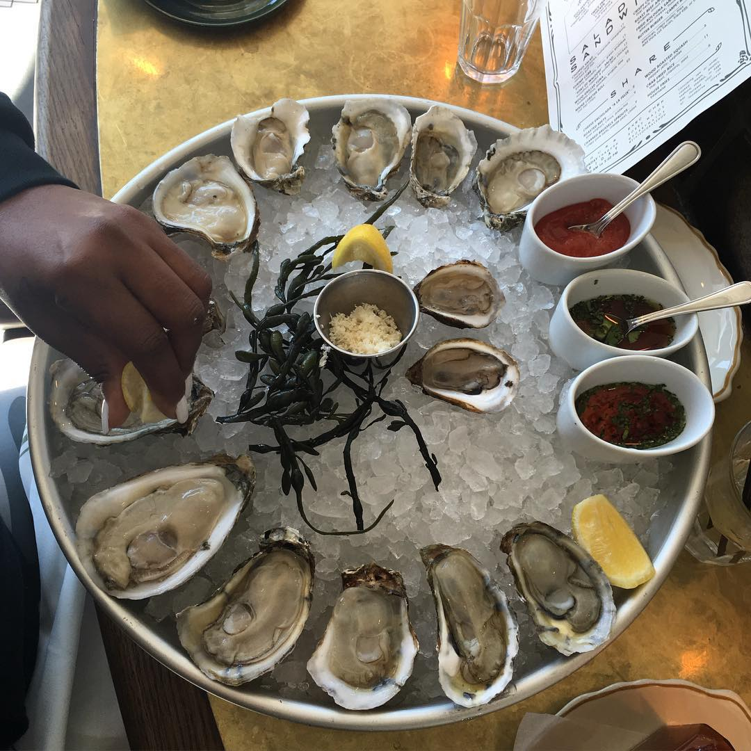 Lucky 13 on deck!! The Oysters at @StateOfGraceTX are delicious and the sauces are 💣 .com, both are  #YouGottaEatThis Approved!! #😍 #😳 #🔥 || #YGET #WDYET #Oysters #Houston ||