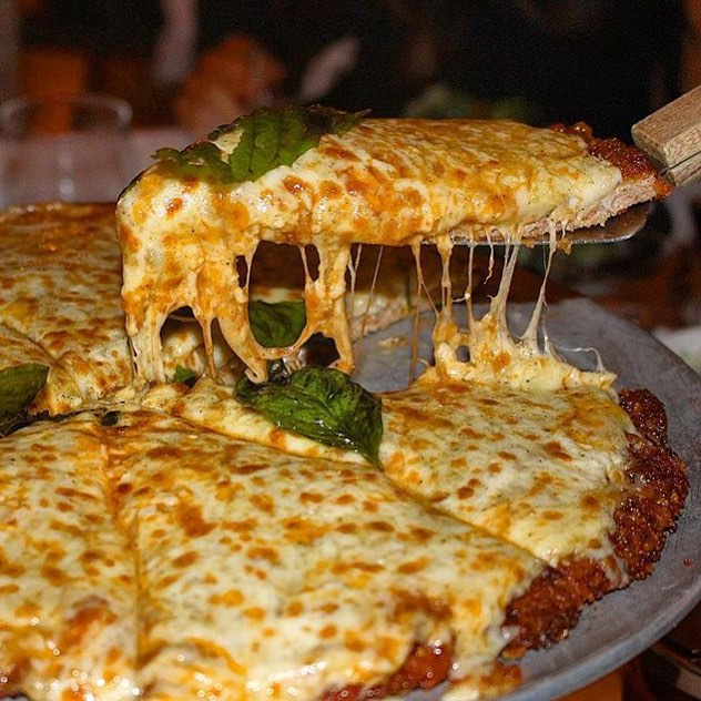 WAIT, WHAT!? CHICKEN PARMESAN PIZZA!? Hmmmmm @TheNaughtyFork is it #YouGottaEatThis Approved!? #😳 #😍