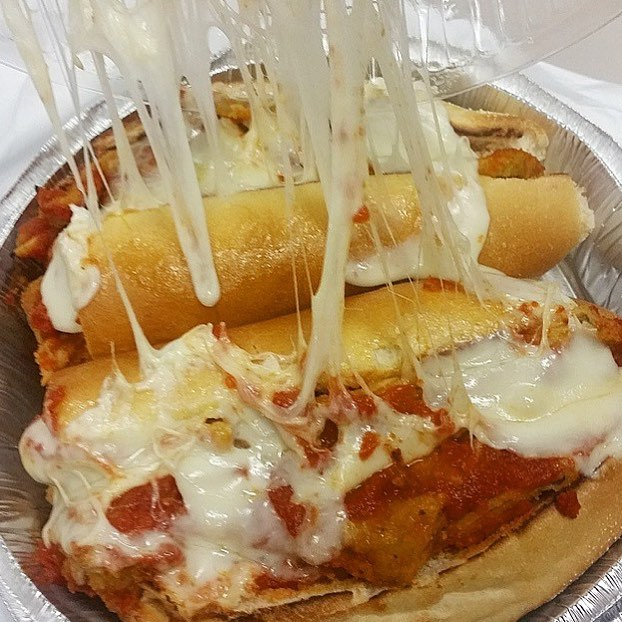 Eggplant Parmesan Hero with Extra MOZARELLAAAAAAAA | 📷: @Sol3Flower  TAG A CHEESE LOVER 👇🏽