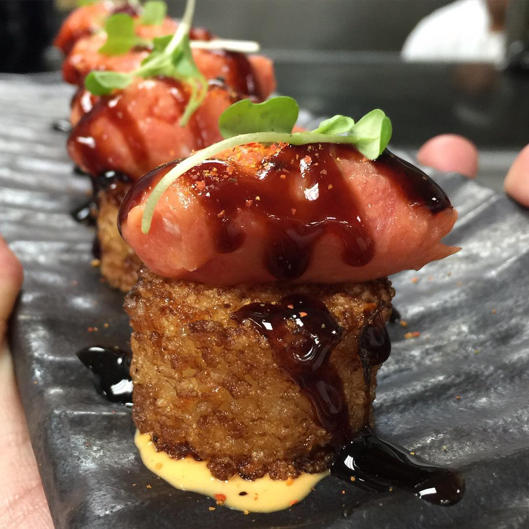 @ChefMarcMarrone made us these Spicy Tuna Tartar over Crispy Sushi Rice with Spicy Mayo and Kabayaki during our visit to @TaoLasVegas!! Without a doubt these are Approved!! Stop on by and Tell Em!! 😍💣🏆🔑🔥👍🏽😳❤️