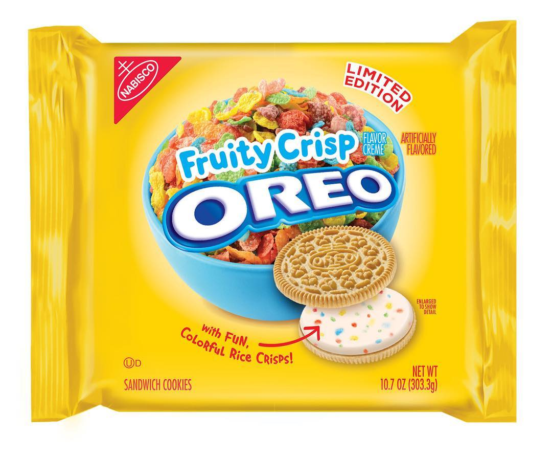 👉🏽 🚨New Cookie Alert🚨 Fruity Crisp Oreo's!! These will be starting to hit grocery stores beginning June 1!!