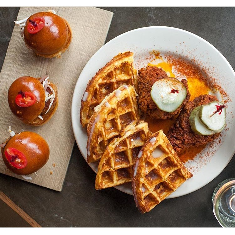 NASHVILLE HOT CHICKEN & CONDENSED MILK WAFFLE