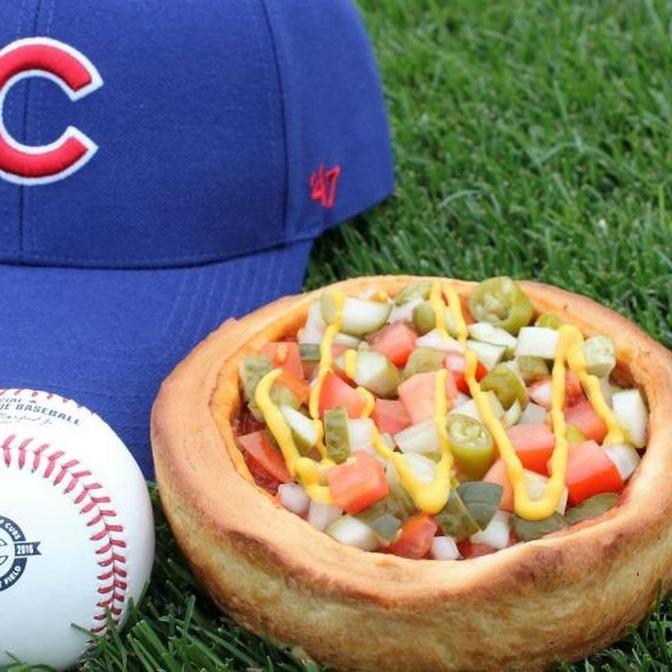 Vienna Beef & Giordano's have teamed up to make a Deep Dish Chicago Style Dog Pizza. Sold at Wrigley Field in Chicago from July 15-20 😳🍕🌭 Y'all messing with this Family?