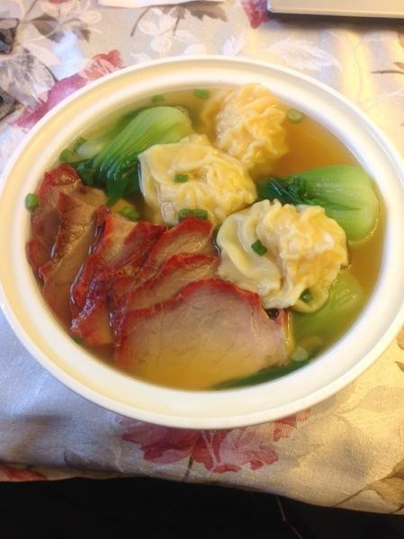Roast Pork & Shrimp Wonton Noodle Soup