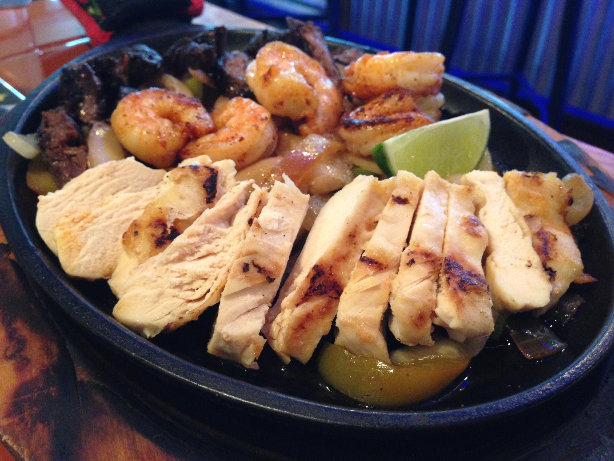 Chicken, Shrimp, Steak Platter
