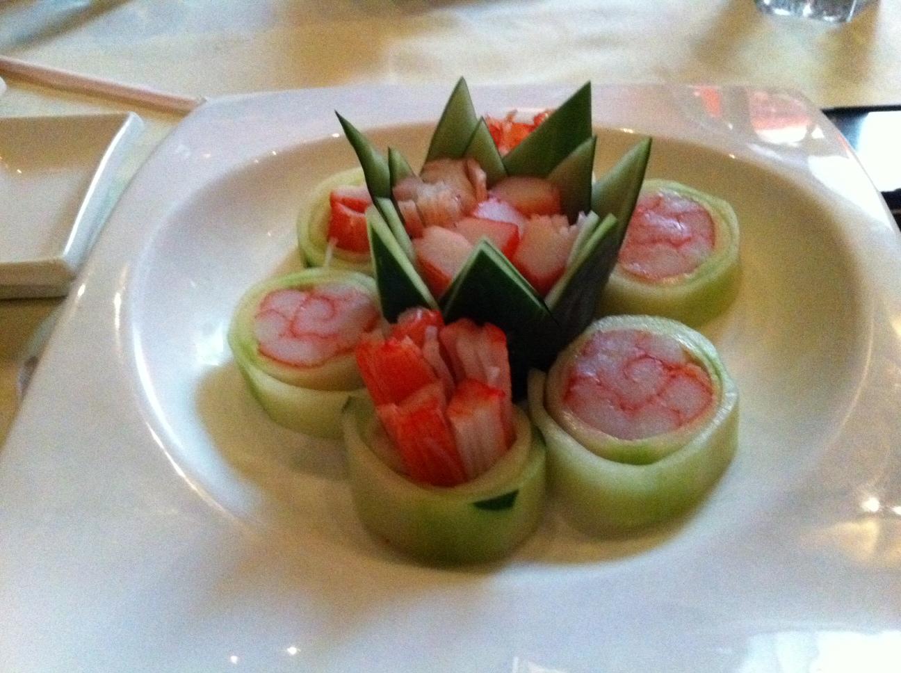 Cucumber Crab Rolls