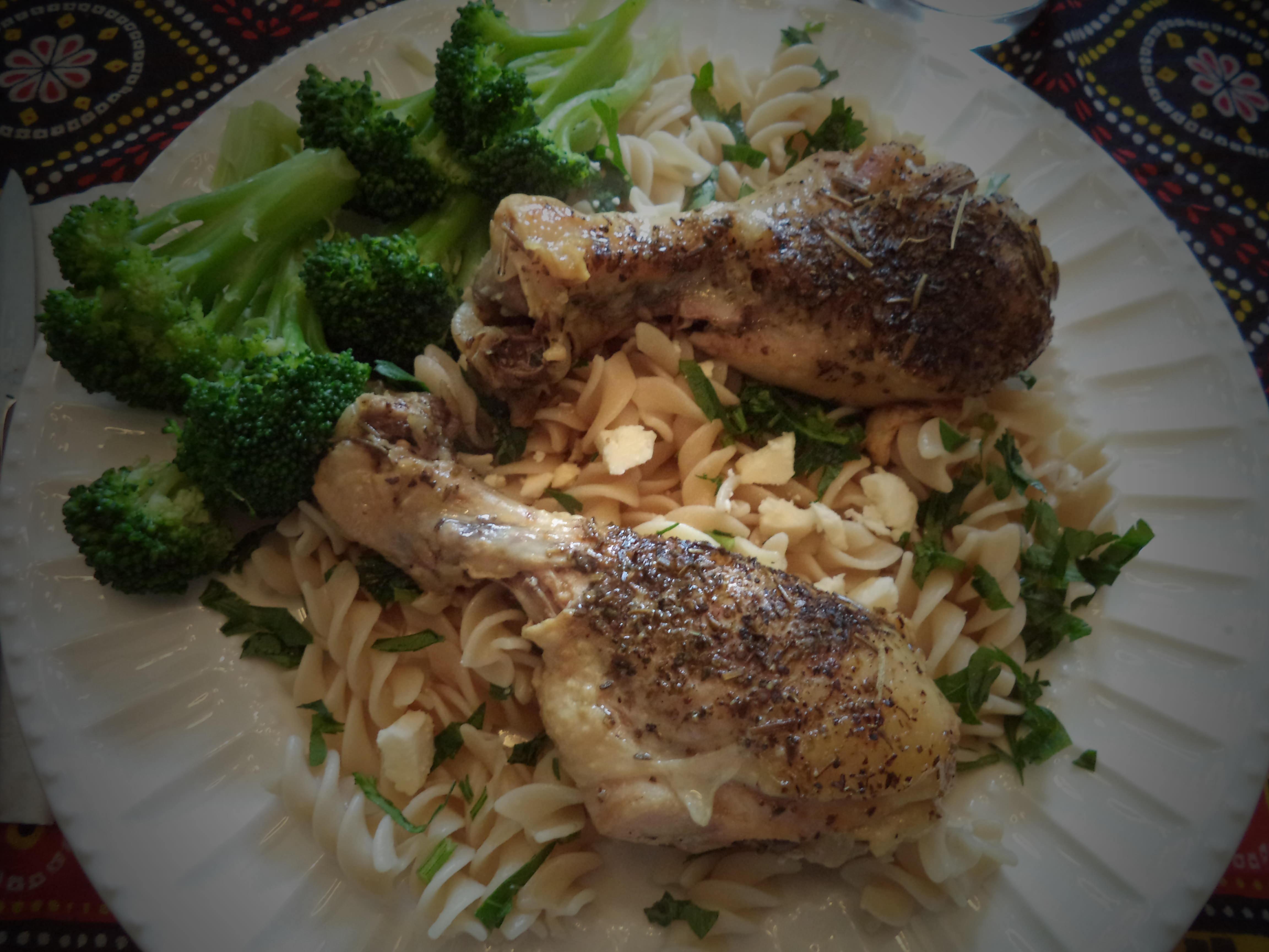 (Gluten-free) Slow Cooker Greek Chicken and Pasta