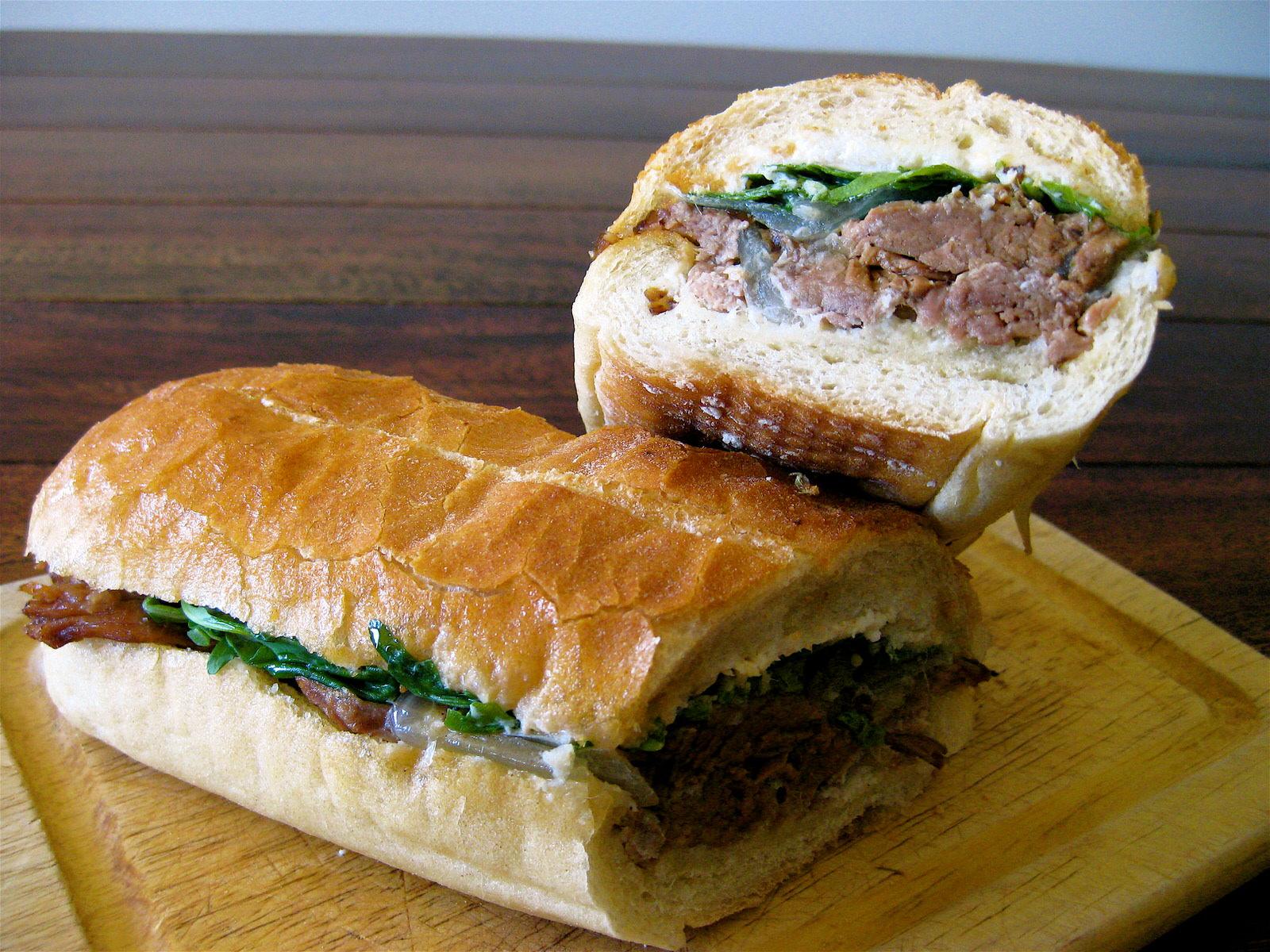Sandwich Spotting Los Angeles ~ the #1 Slow Cooked Brisket sandwich @ Tamarind Ave Deli