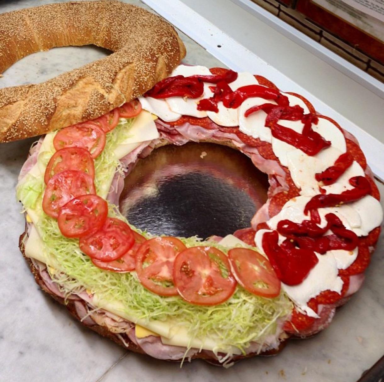 Italian/American Bagel Wheel from @lioniheroes in Brooklyn, NY