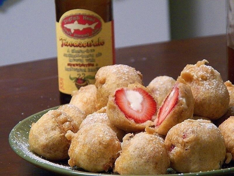 Fia Fortune's Deep Fried Cheesecake-Stuffed Strawberries