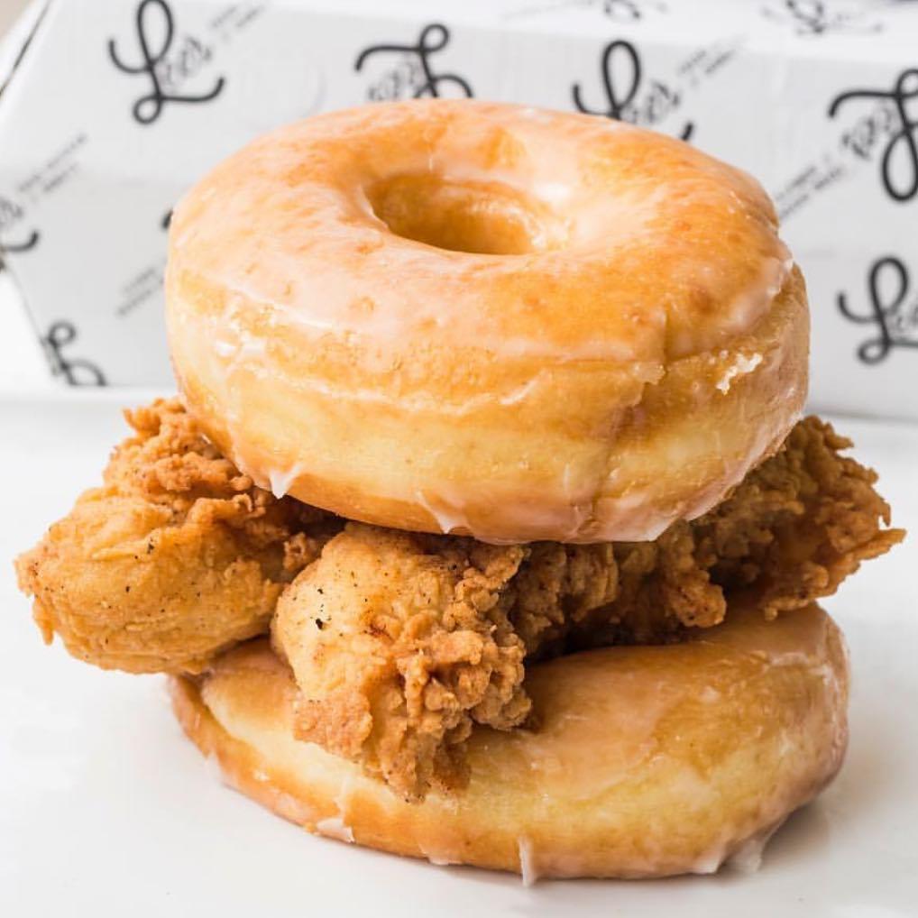 Double Donut Fried Chicken Sandwich!!