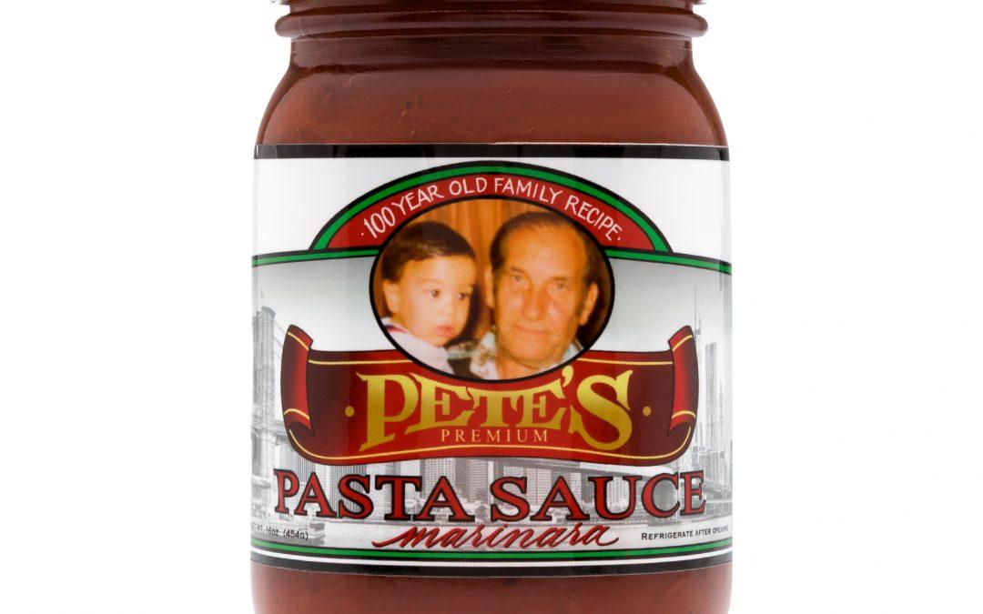 """PETE'S PREMIUM PASTA SAUCE"" A 100 Year Old Family Recipe"